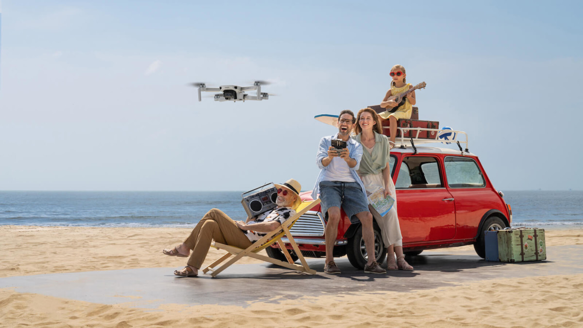 DJI Mini 2 lightweight 4K drone can resist 38 kph winds for stable shots