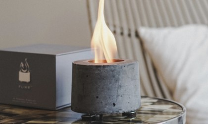 FLÎKR Fire Personal Concrete Fireplace