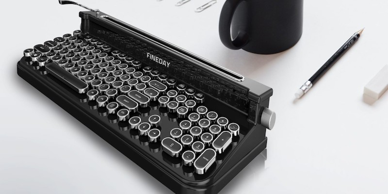 Fineday Retro Bluetooth Typewriter Keyboard