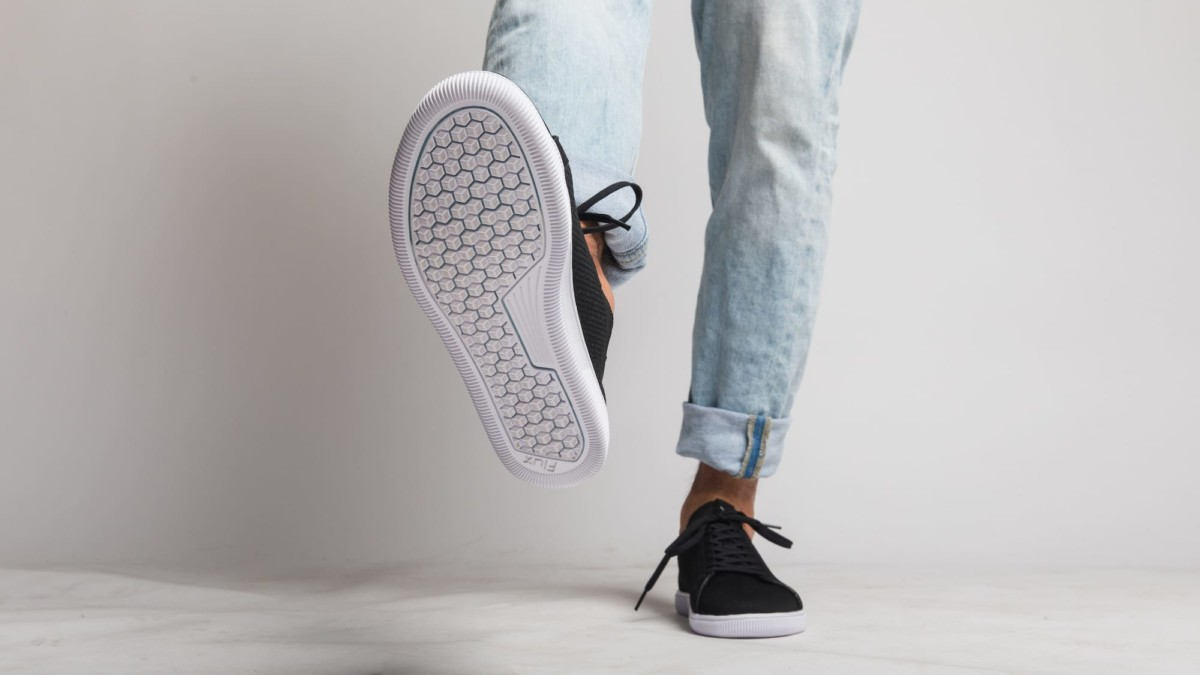 Flux Adapt athleisure shoe uses AdaptSol technology for a natural feel