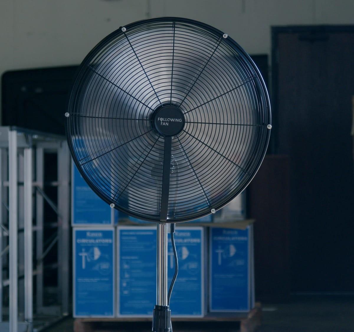 Following Fan is a person-tracking smart fan