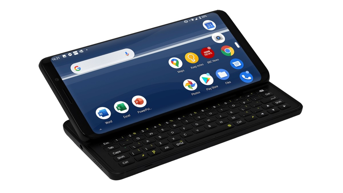 F(x)tec Pro1 functional smartphone features a slide-out keyboard for easier typing