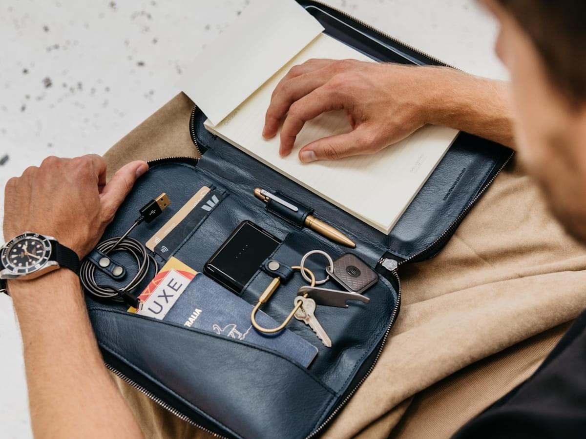 HALO Italian leather folio organizes your everyday, everywhere essentials