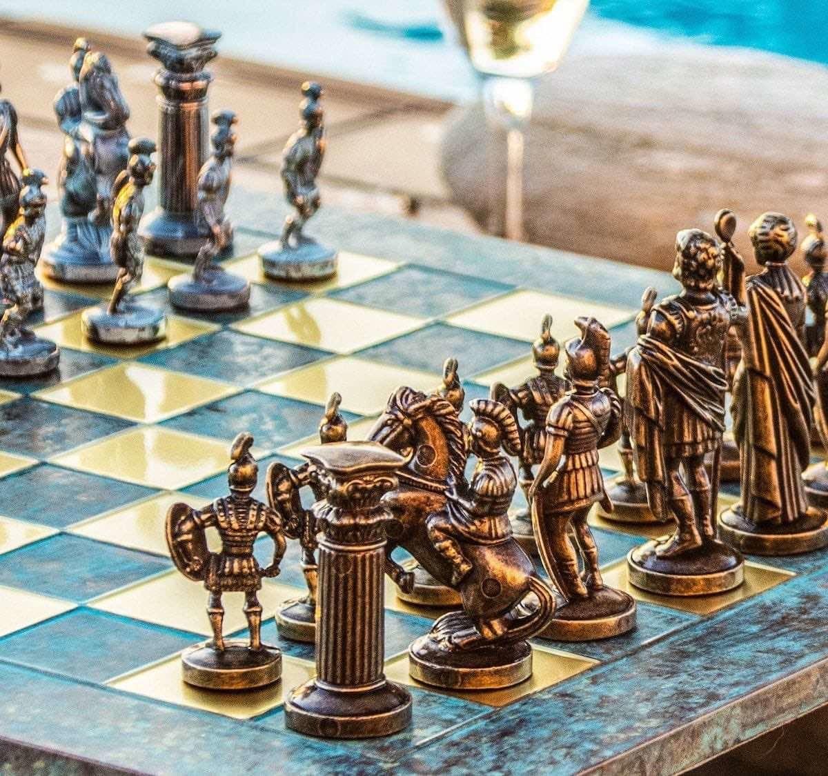 Hellenic Art Spartan Hoplites Elaborate Chess Set has a gorgeous, display-worthy design