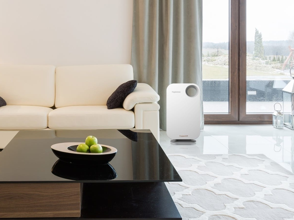 Hygiennex X1 antimicrobial air purifier uses copper to eliminate coronavirus