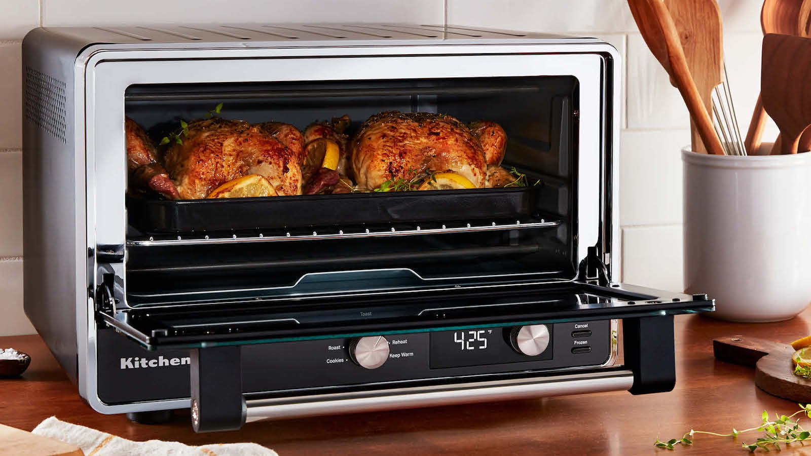 KitchenAid Digital Countertop Oven features 9 preset cooking functions