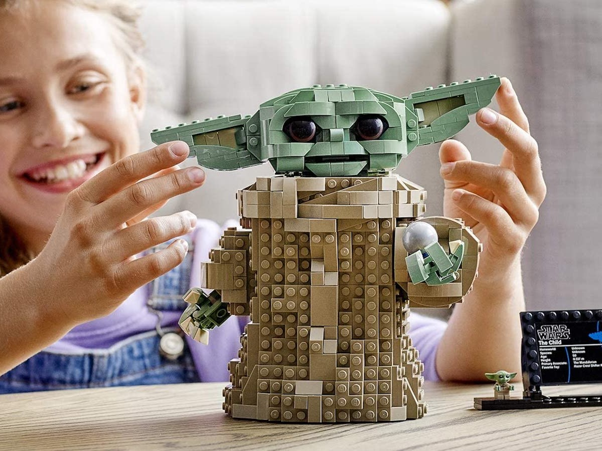 LEGO Star Wars The Mandalorian The Child building set is a 1,073 piece for hours of fun