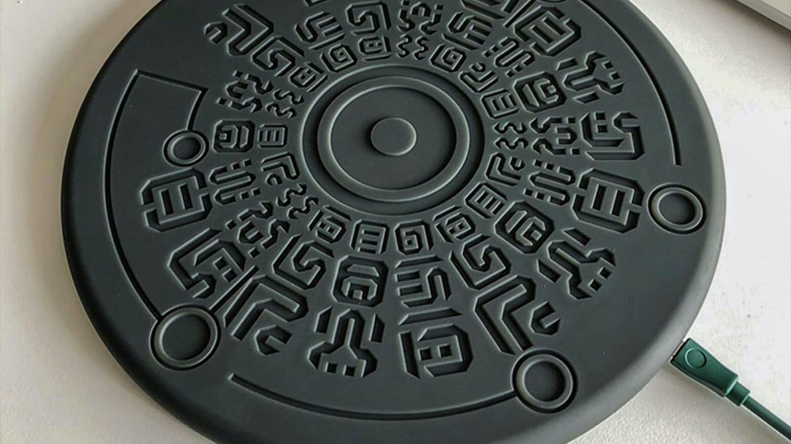 Legend of Zelda Sheikah Runes Qi Wireless Fast Charger delivers 10 watts to your phone