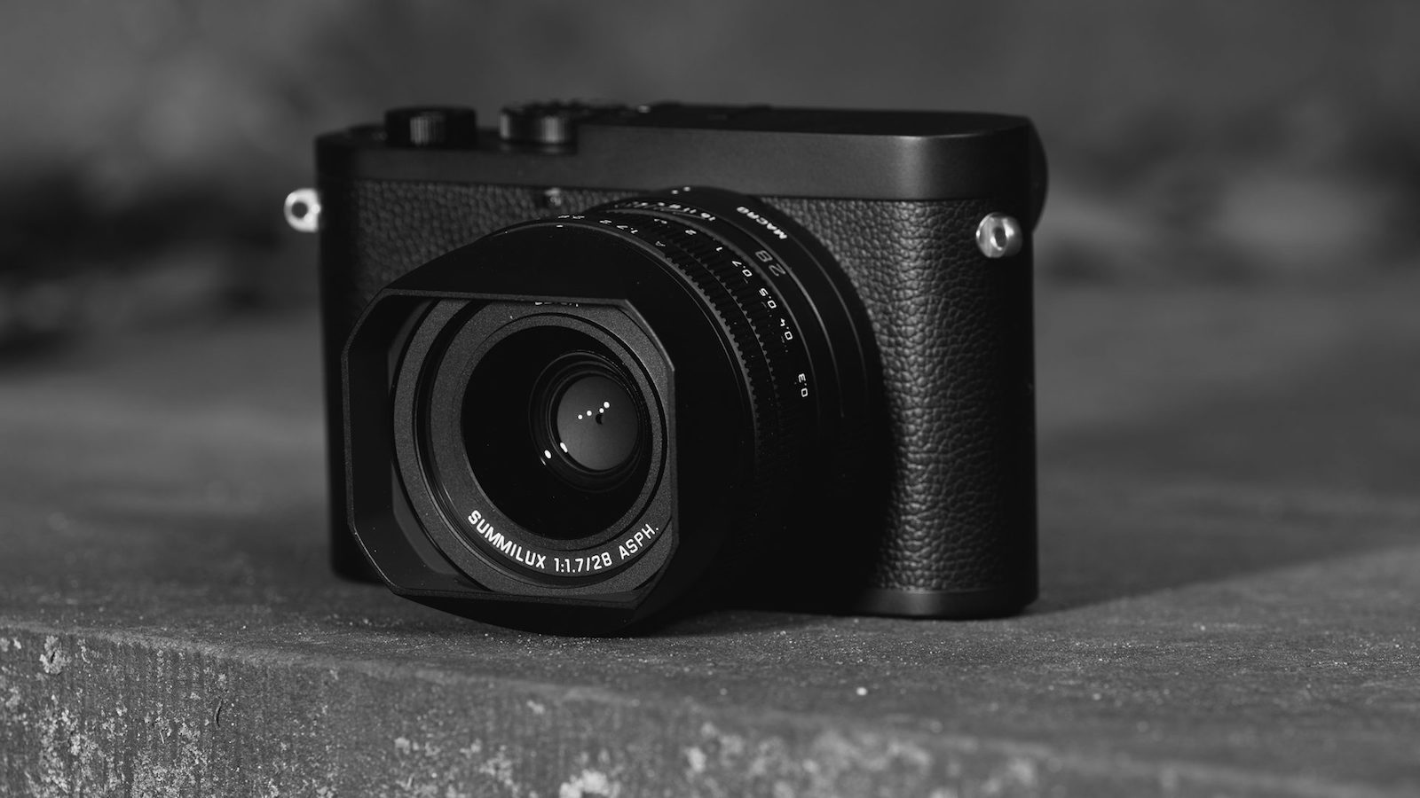Leica Q2 Monochrom full-frame digital compact camera focuses only on black & white images