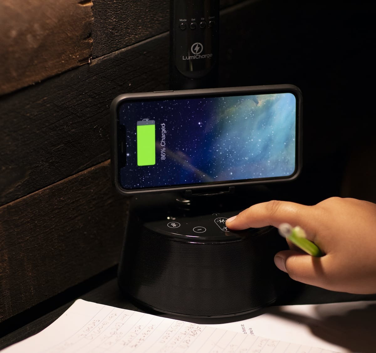 LumiCharge T2W Bluetooth LED lamp doubles as a wireless phone charger