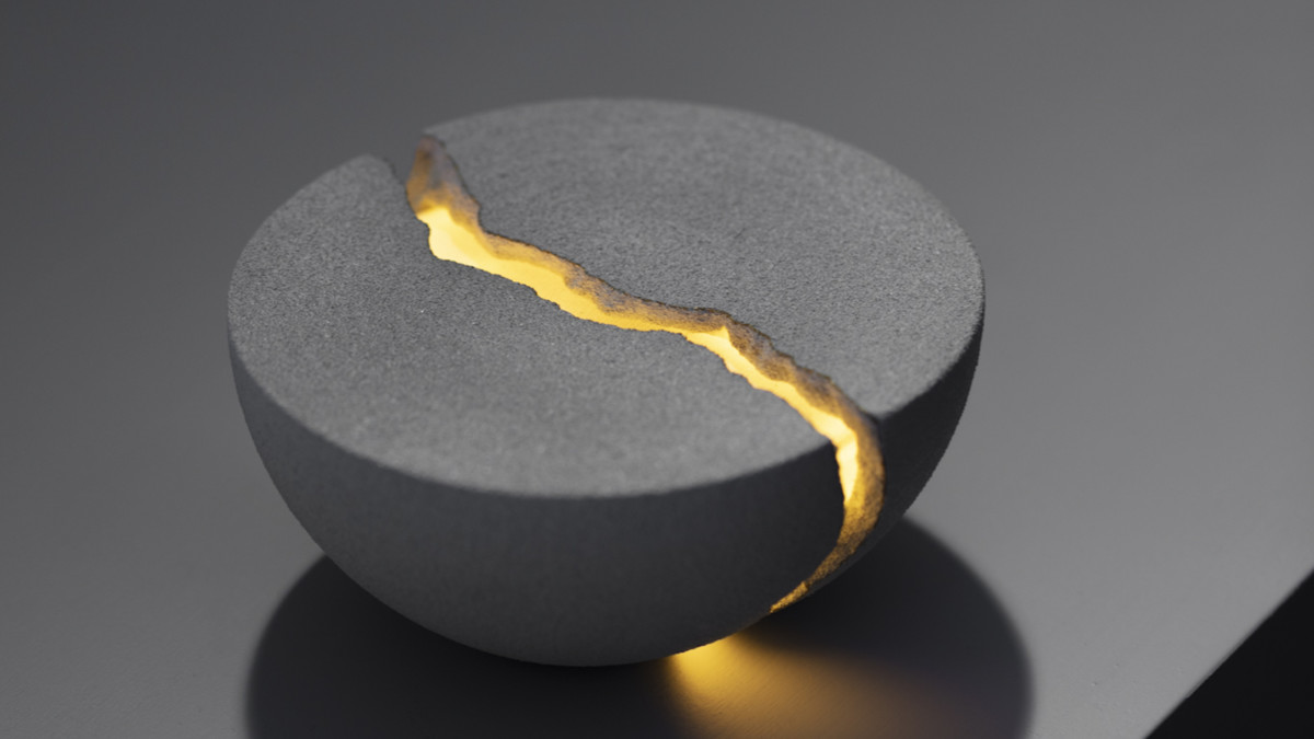 Lumio Teno bowl-shaped speaker can be cracked open to reveal light