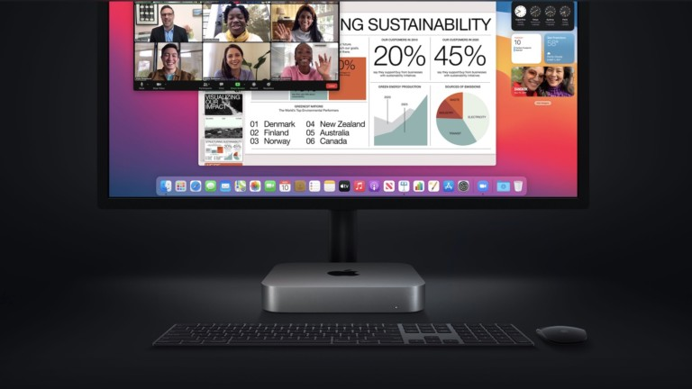 Mac mini with M1 uses the new Apple Silicon chip for better performance and more