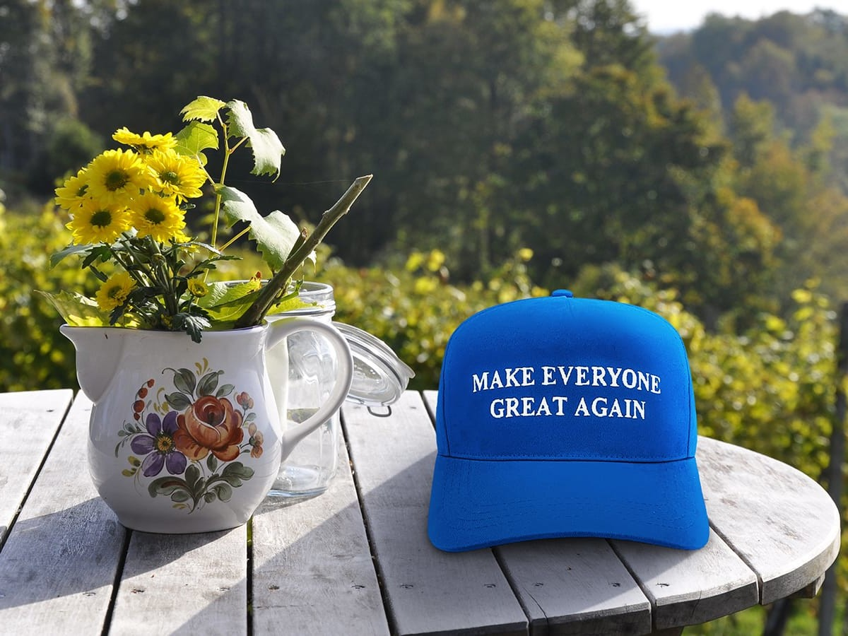 Make Everyone Great Again world-uniting apparel encourages harmony among everyone