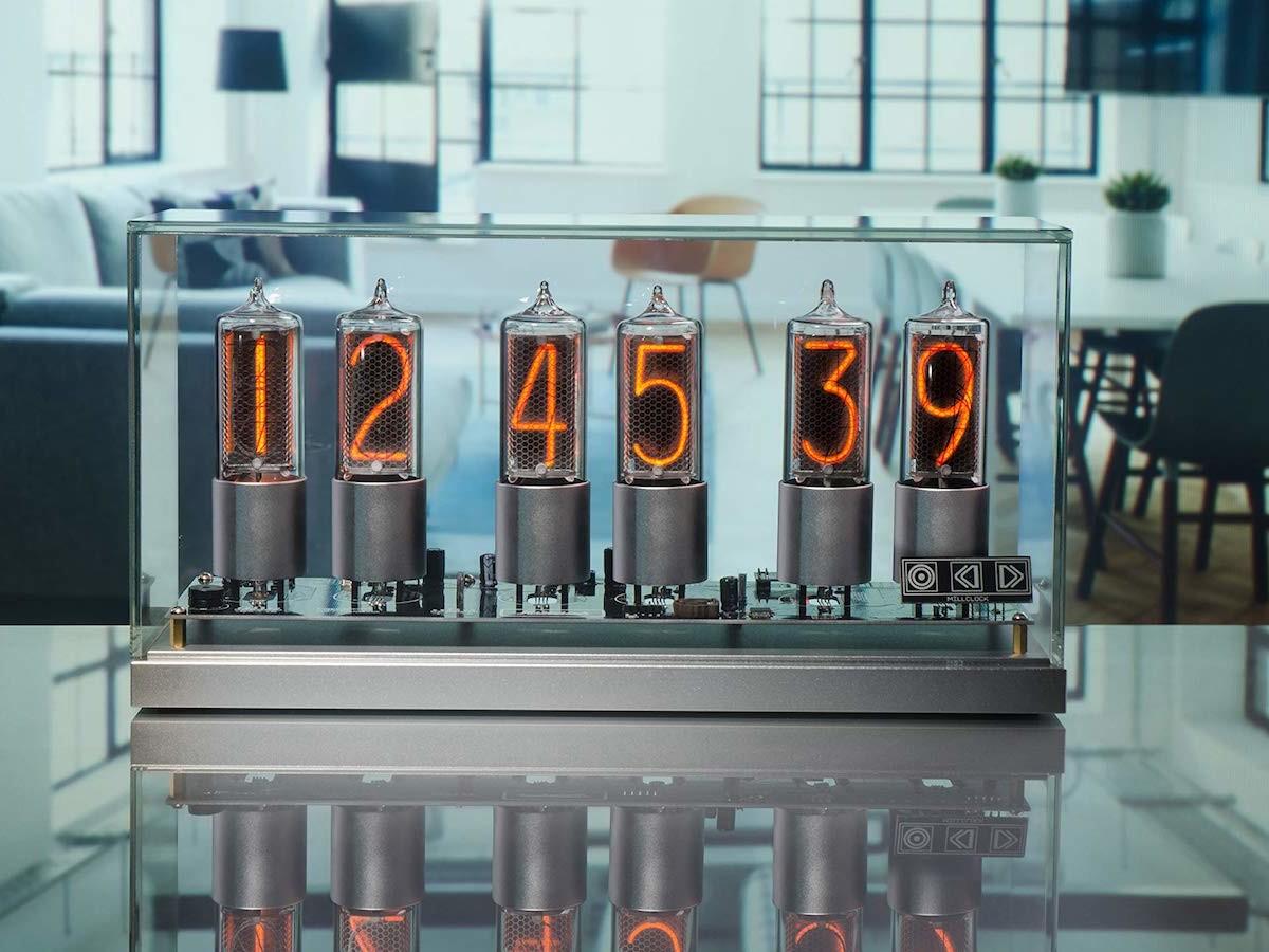 Millclock ZIN-18 Nixie clock gives modern tech a retro touch