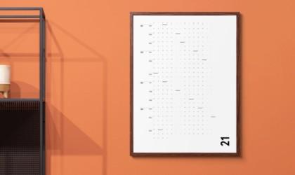 IOTA Inc The Minimalist's Wall Calendar