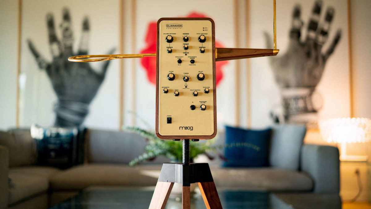 Moog Claravox Centennial theremin features traditional and modern performance modes