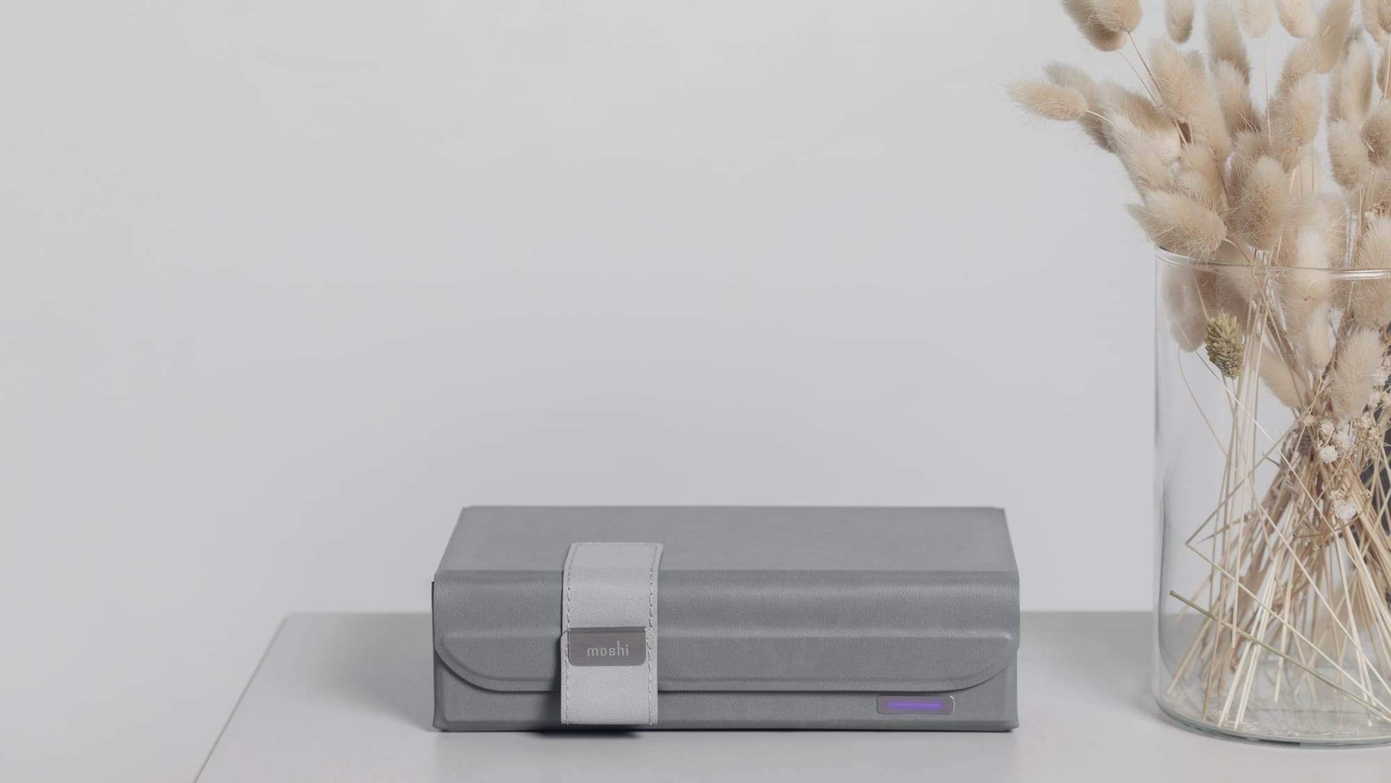 Moshi Deep Purple™ origami-inspired UV sanitizer cleans in 4 minutes and folds in seconds