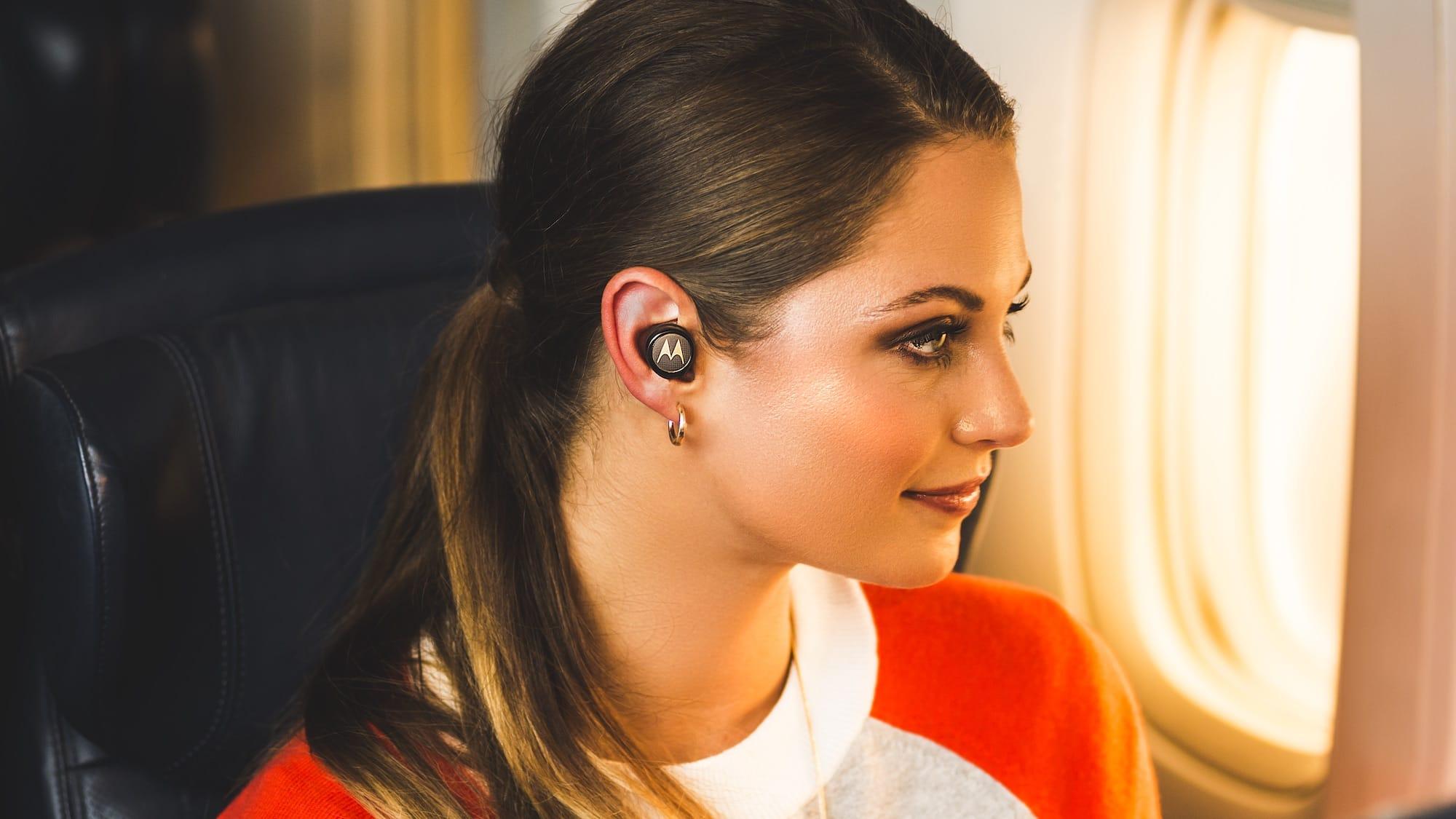 Motorola Tech3 True Wireless Earbuds offer an innovative 3-in-1 wearing style