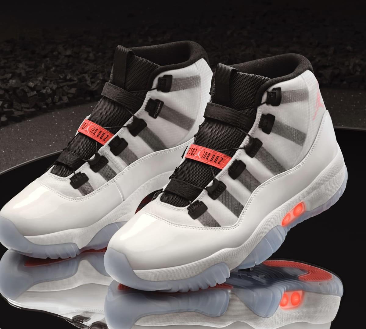 Nike Air Jordan XI Adapt Jumpman shoes provide self-lacing technology