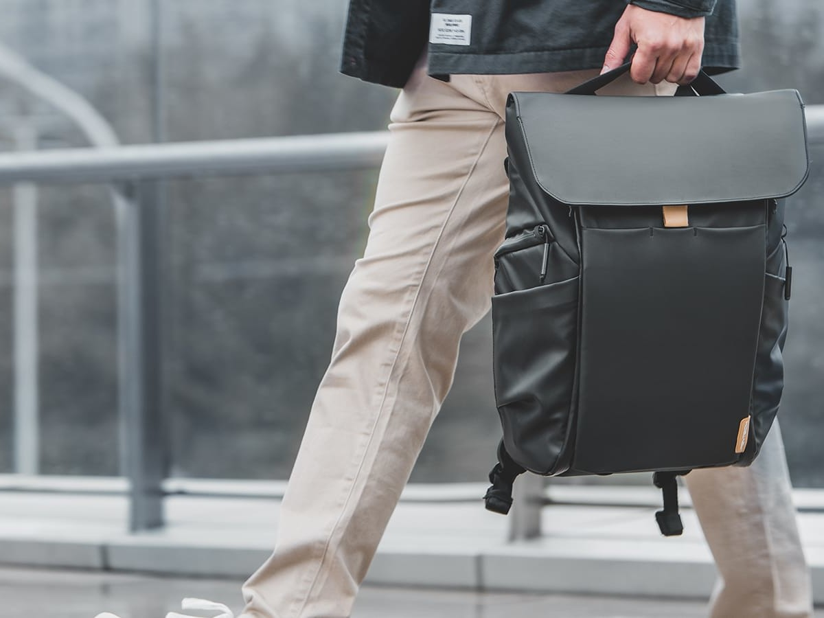 OneGo camera bag is comfortable, breathable, & stylishly functional with organized storage