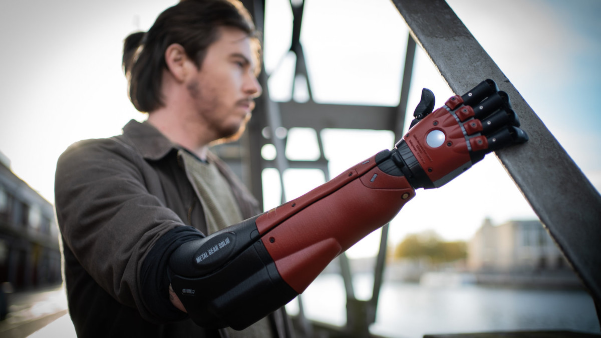 Open Bionics x Konami Venom Hero bionic arm is designed for below-elbow amputees