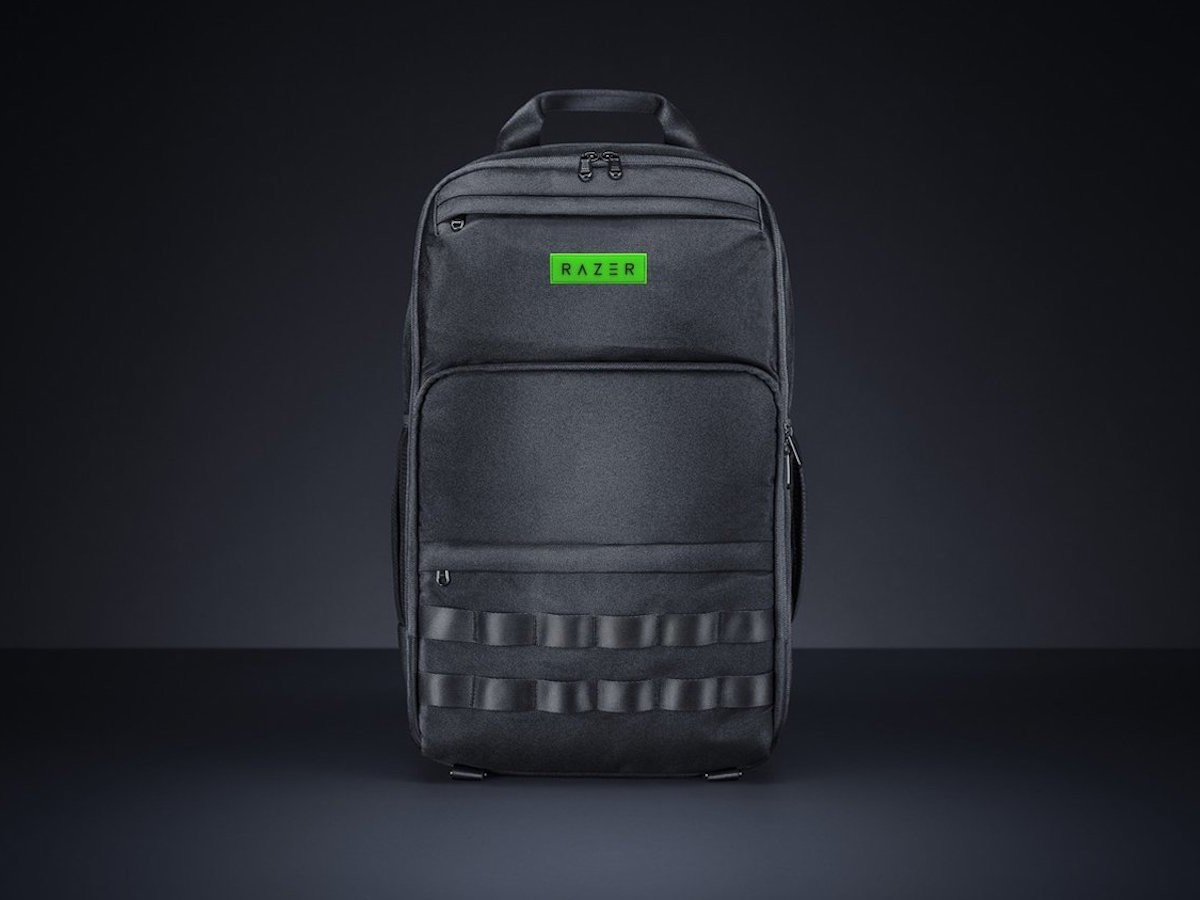 Razer Concourse Pro Gaming Backpack has a soft inner lining to protect delicate gear