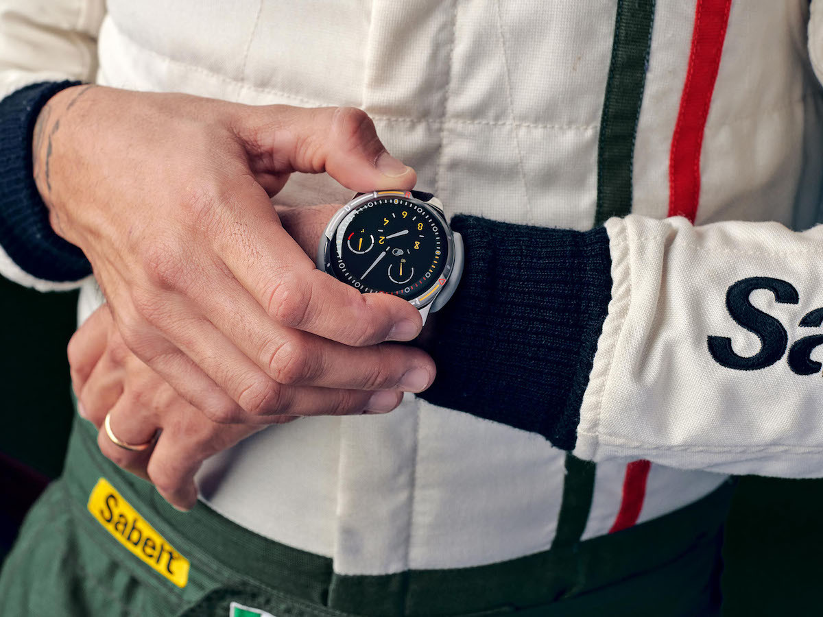 Ressence Type 5X waterproof watch replicates the design of a car's dashboard