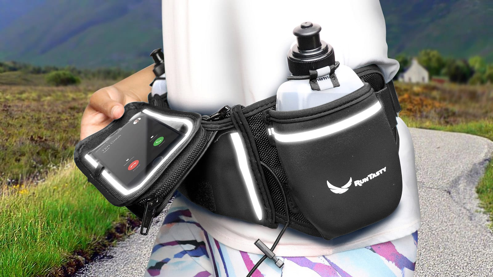 Runtasty Winner's Running Hydration Belt gives you easy access to your gear while you jog