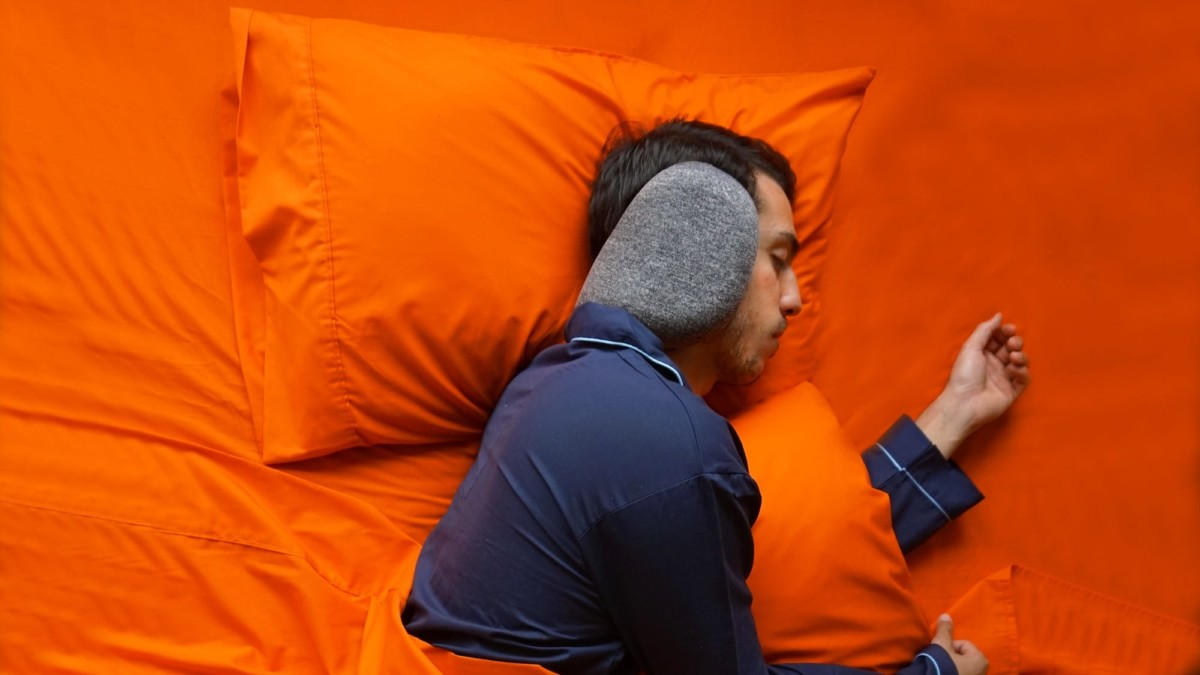 SleepMuffs by Blisstil sound-blocking neck pillow offers support wherever you sleep