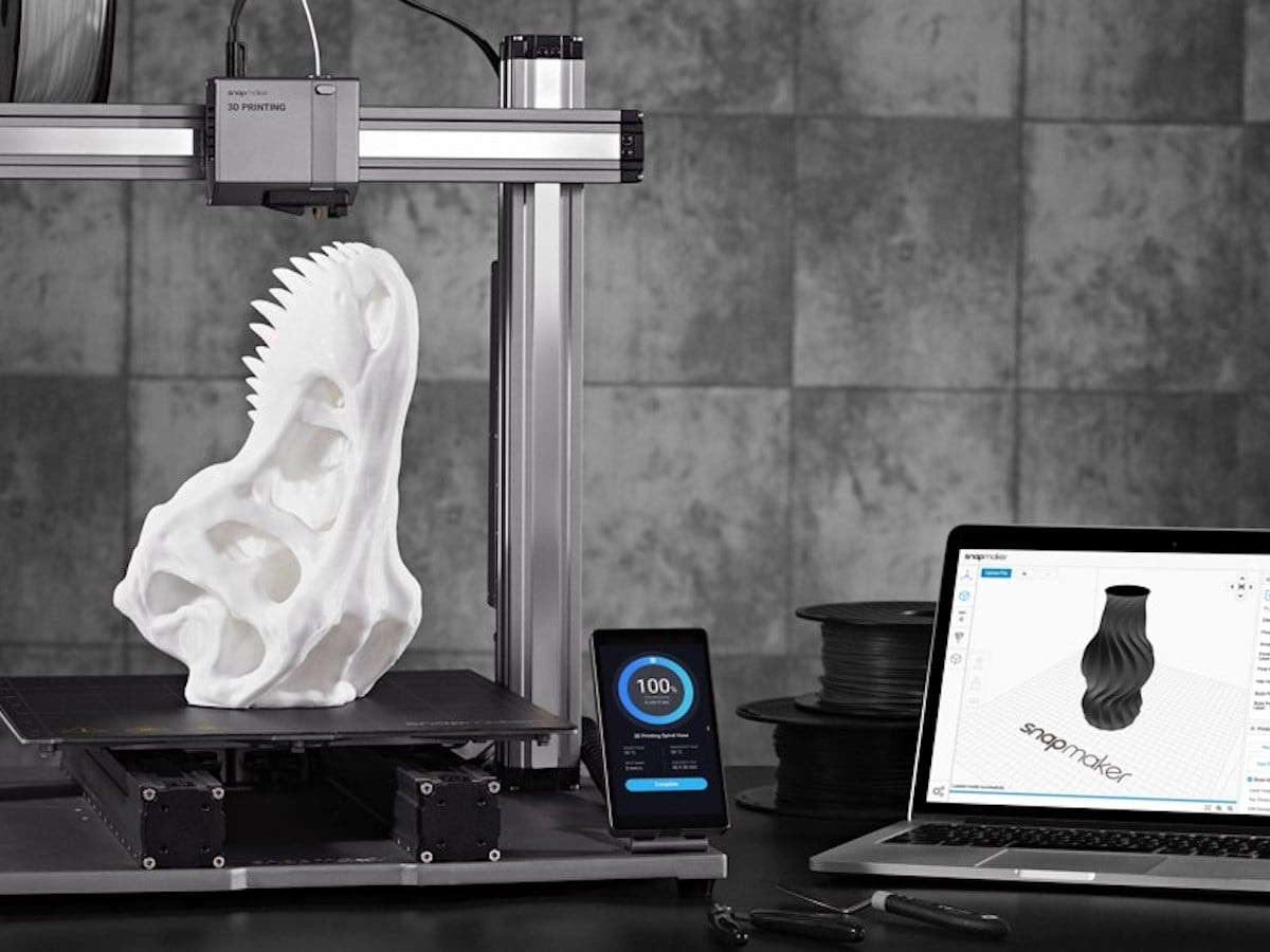 Snapmaker 2.0 modular 3-in-1 3D printers combine printing, engraving, and machining