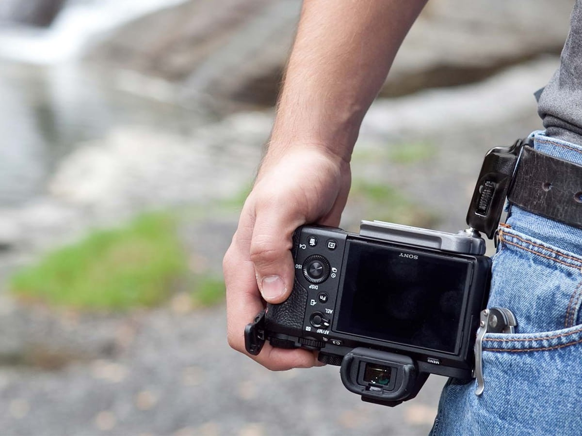 Spider X Backpacker Kit camera holster makes it easy to take your camera on the go