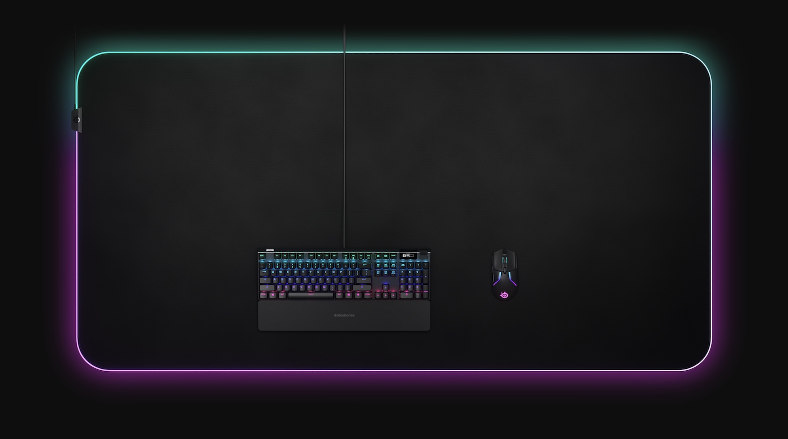 SteelSeries QcK Prism Cloth 5XL giant gaming mouse pad may take up your whole desk