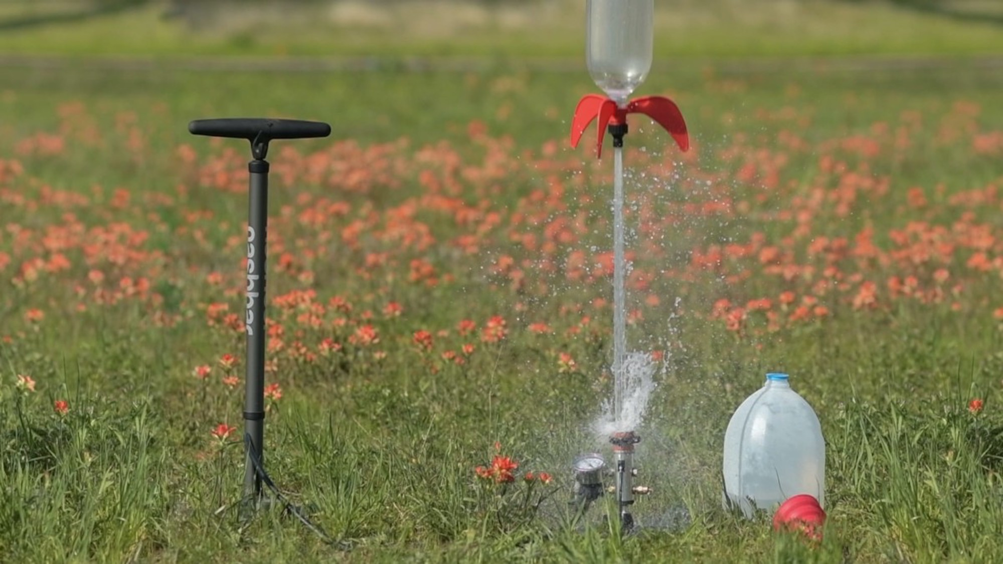 This cool water rocket launcher is a great way to have fun