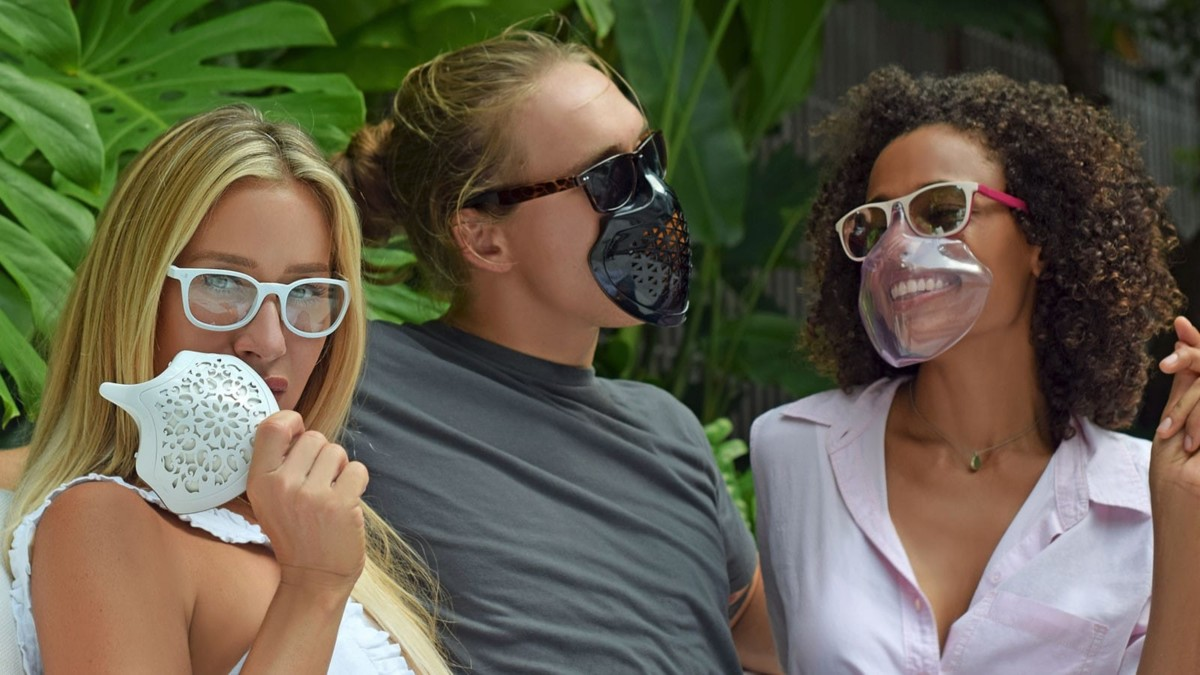 Tactika Facewear integrated mask & sunglasses magnetically clip on and off