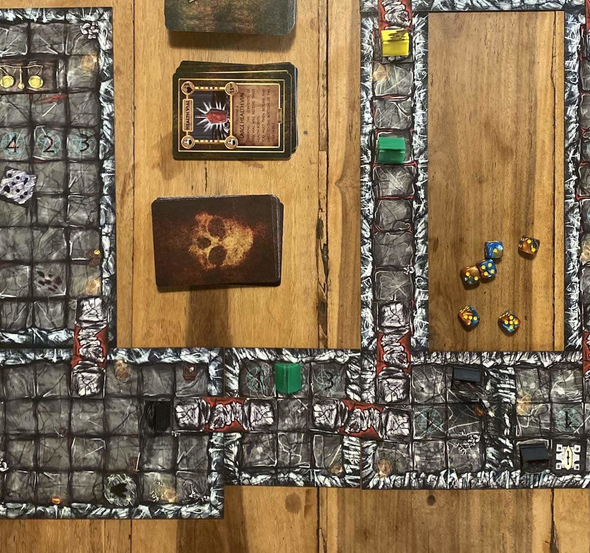 The Gorgon's Loch tabletop dungeon game is easy to learn and hard to master