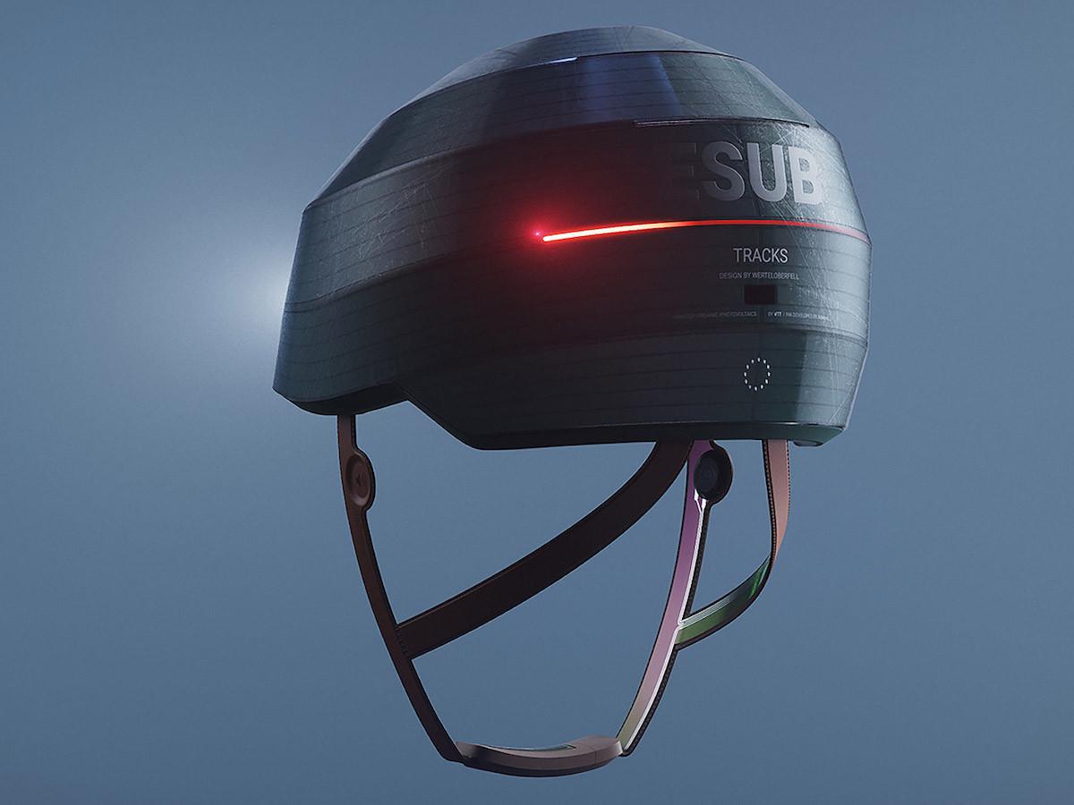 WertelOberfel ESUB Tracks Smart Helmet features a self-adjusting fit system