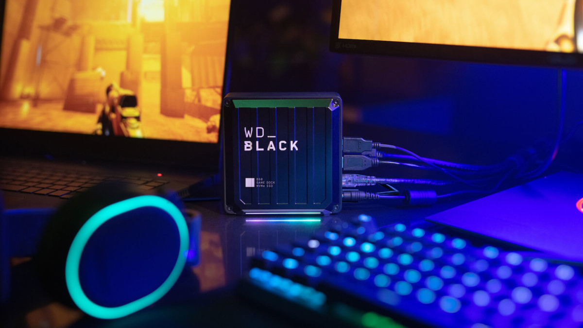 Western Digital D50 Game Dock NVMe SSD offers 87W of pass-through charging