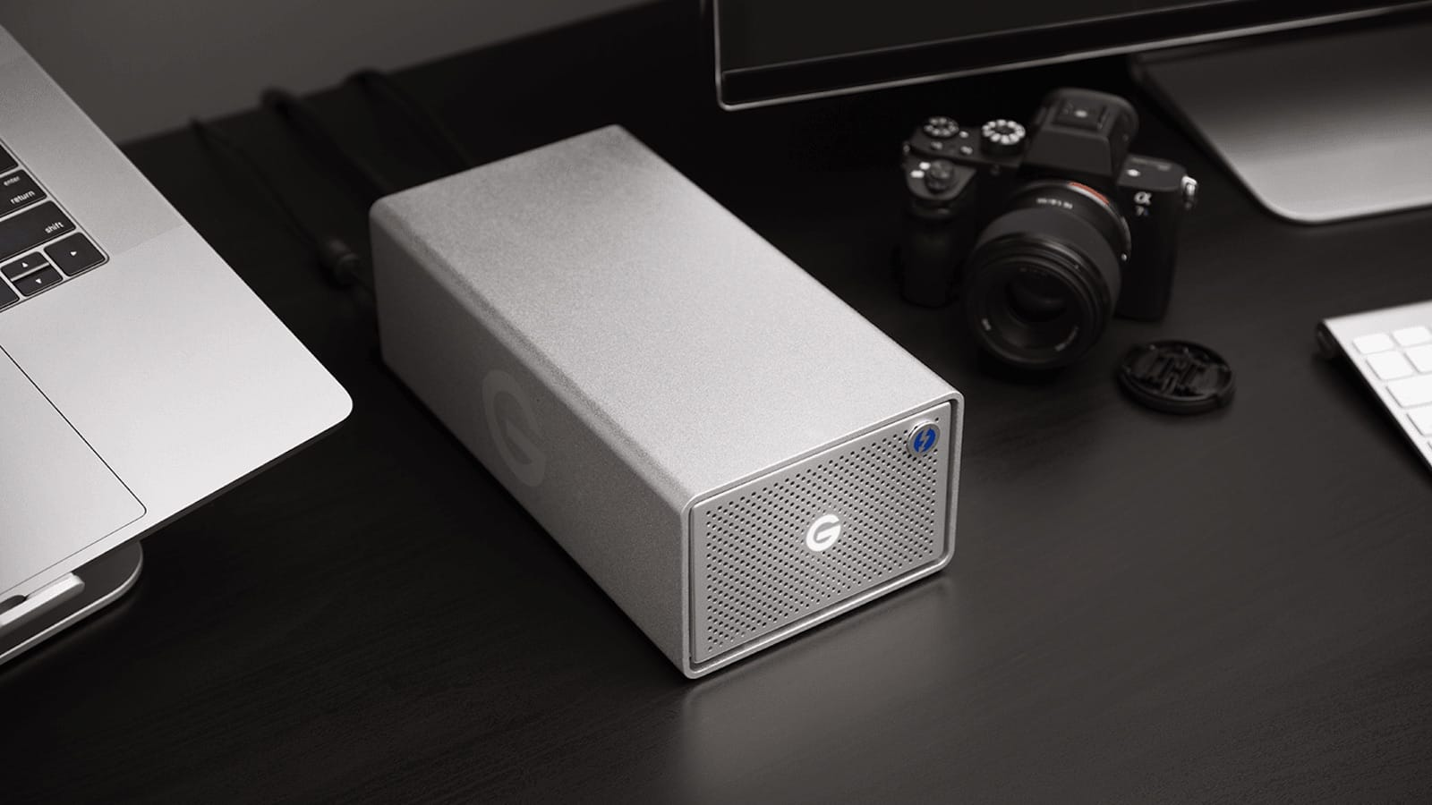 Western Digital G-RAID Hard Drive with Thunderbolt 3 features transfer rates up to 500MB/s