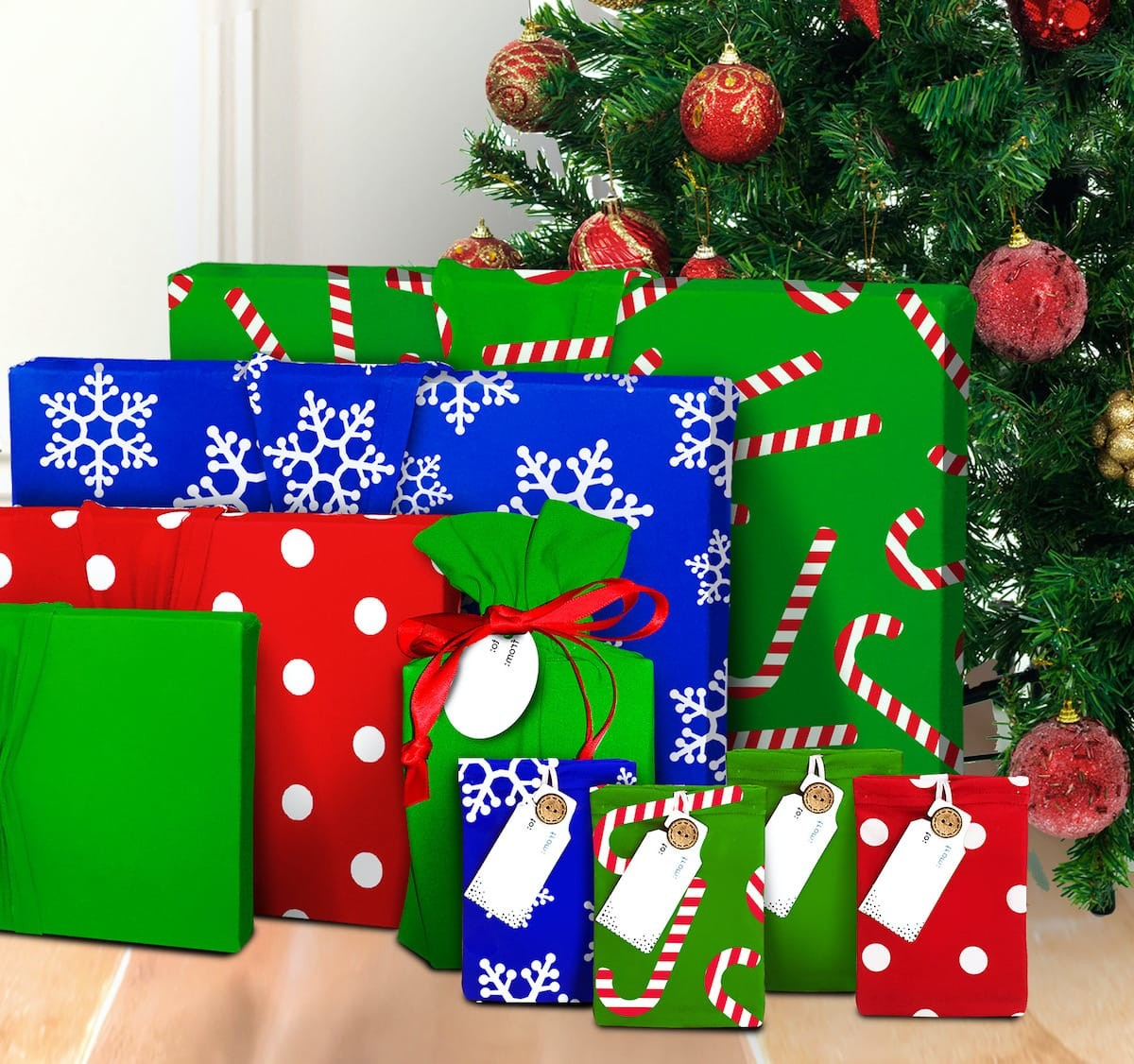 Wrapeez reusable wrapping paper saves you time, hassle, and mess