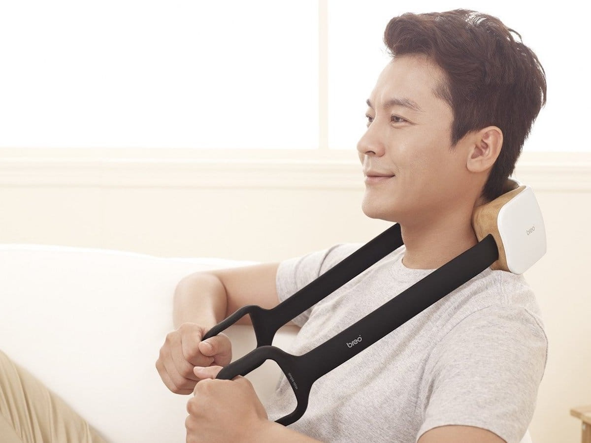 Breo iNeck2 neck massager offers comforting heat compression