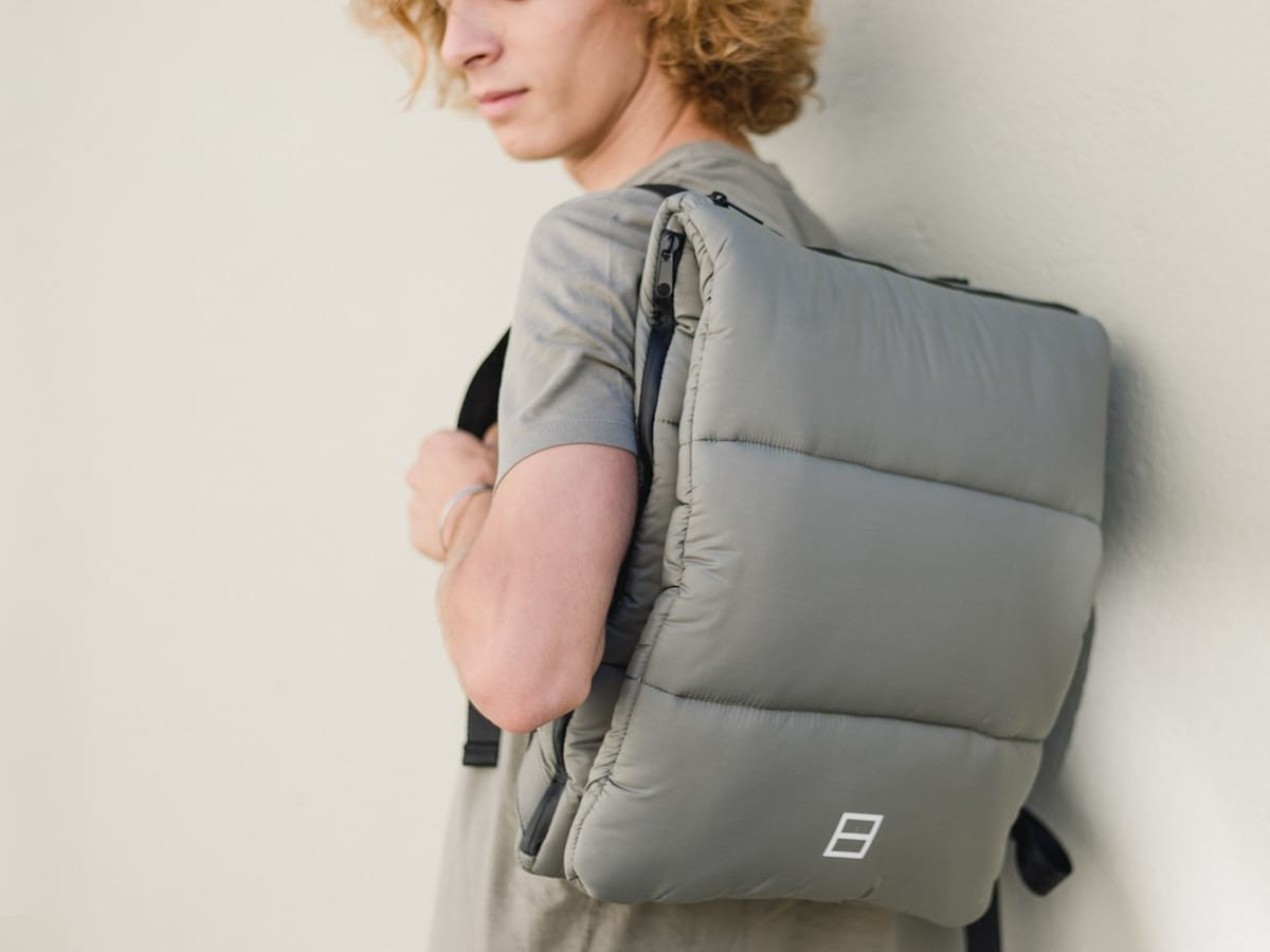 By The Book Airback ethical modern backpack is an all-in-one bag for everyday use