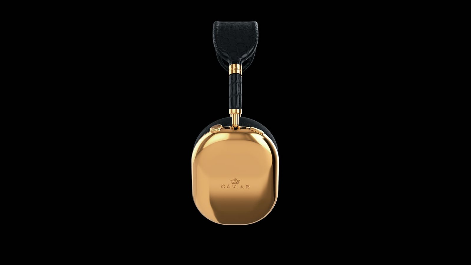 Caviar AirPods Max Golden Black features earcups made from 750 grams of pure gold