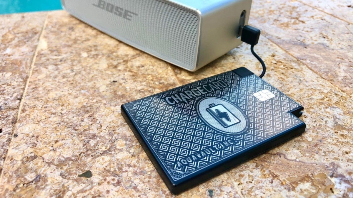 This super-thin charger is the size of a credit card