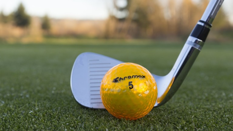 Chromax® high-visibility golf balls are easy to track and locate