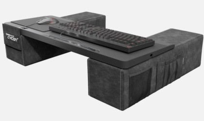This couch desk is a perfect example of how to game in comfort
