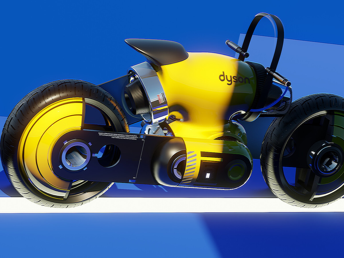 Dyson concept motorcycle features a built-in LCD display
