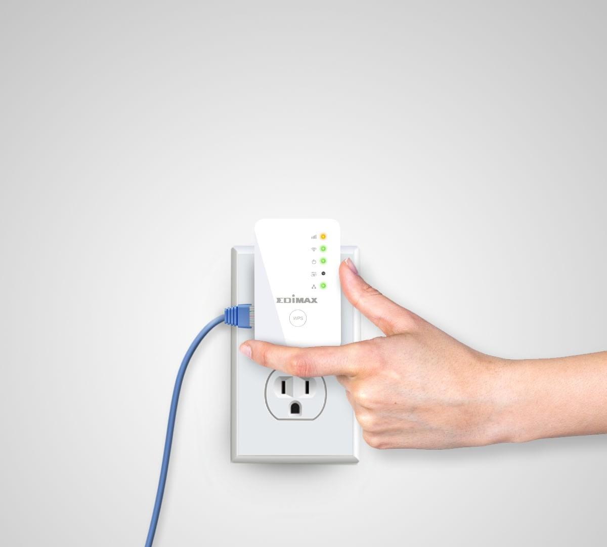 Edimax EW-7438RPn Mini compact Wi-Fi range extender improves your internet signal