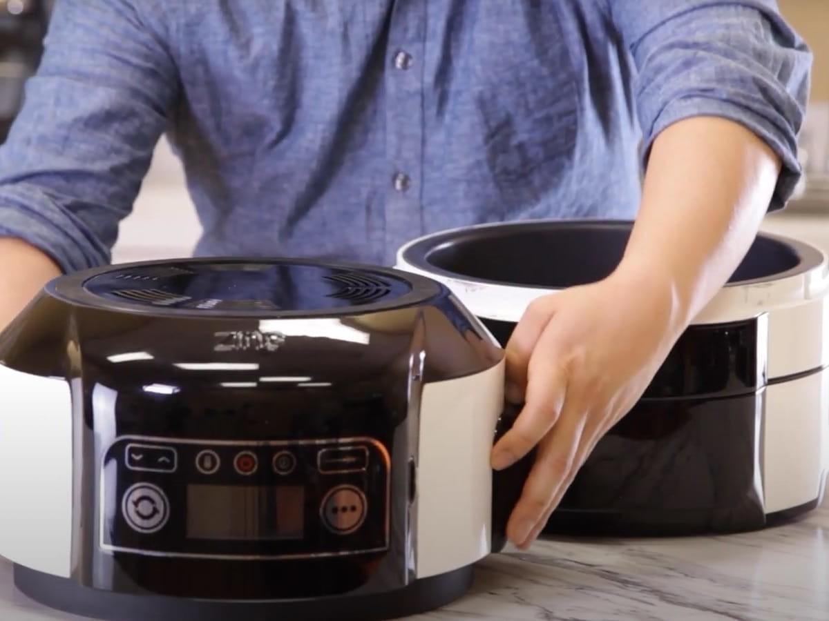Flip air fryer & slow multicooker transforms into a multicooker, slow cooker, & air fryer