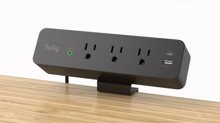 Fully Clamp-Mounted Surge Protector keeps outlets at your fingertips