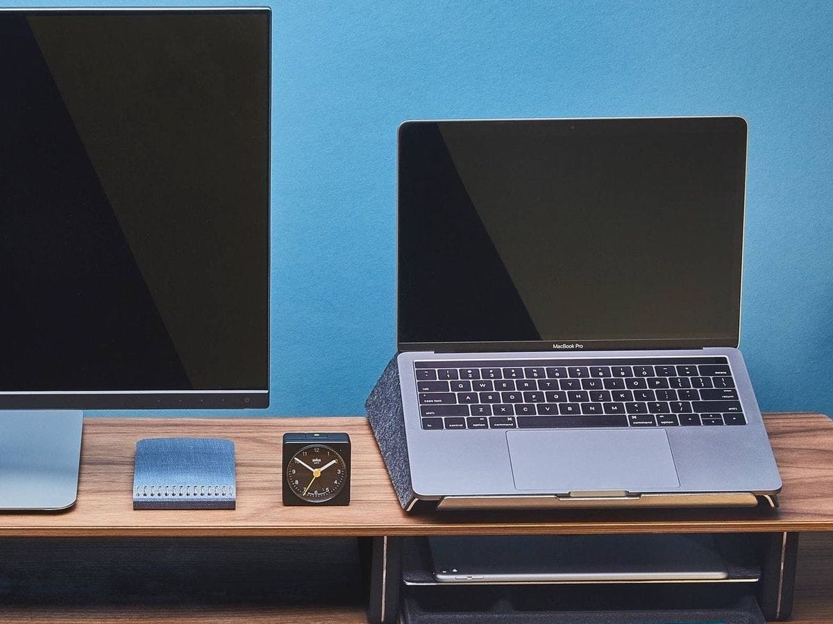 Grovemade Ergonomic Laptop Lift elevates your device for a more comfortable position